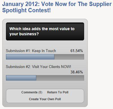 The Supplier Spotlight Contest Vote